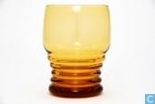 3185 met ringen Waterglas amber 225 ml 89 mm