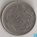Turkey 2½ lira 1973