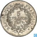 France 5 francs AN 9 (L)