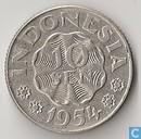 Indonesië 10 sen 1954