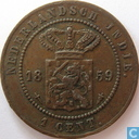 Dutch East Indies 1 cent 1859