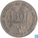 "West African States 50 francs 1972 ""F.A.O."""