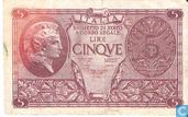 Italië 5 Lire (P31c)