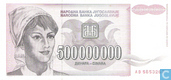Joegoslavië 500 Miljoen Dinara 1993
