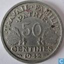 Frankrijk 50 centimes 1942