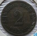 Duitse Rijk 2 pfennig 1876 (D)