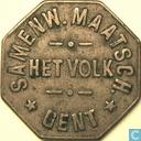 """België 1 broodpenning """"Het Volk, Gent"""" (nieuw lettertype)"""