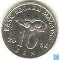 Maleisië 10 sen 2008