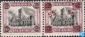 City Hall of Dendermonde, with and without overprint