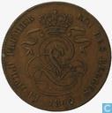 Belgium 2 centimes 1849