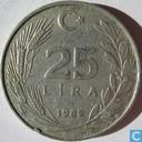 Turquie 25 lira 1985