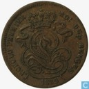 België 1 centime 1835 over 1832