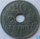 Frankrijk 20 centimes 1943 (dik - 3,5 g)
