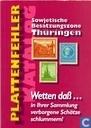Plattenfehler Katalog Sowjetische Besatzungszone Thüringen