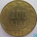 Italie 200 lire 1981