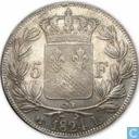 Frankrijk 5 francs 1824 (L)