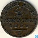 Munten - Pruisen - Pruisen 2 pfenninge 1856