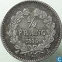 France ¼ franc 1833 (A)