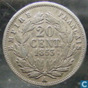 France 20 centimes 1853