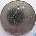 Italy 50 lire 1955