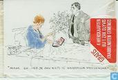 Peter van Straaten: 4 Wenskaarten bij 1 zak Duyvis knabbelnoten gemengd