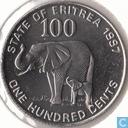 Eritrea 100 cents 1997