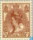 """Briefmarken - Niederlande [NLD] - Königin Wilhelmina 'Pelzkragen """""""