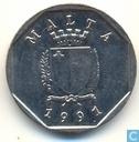 Malta 5 cents 1991