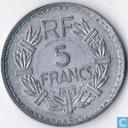 France 5 francs 1947 (aluminium - with B, 9 opened)