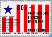 Timbres-poste - Pays-Bas [NLD] - 50 ans du plan Marshall