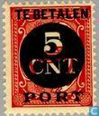 Postage due, overprinted