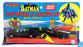 Batmobile & Batboat with trailer