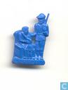 Rotkäppchen (avec grand-mère et chasseur) [bleu]