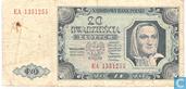 Pologne 20 Zlotych 1948