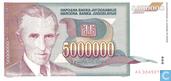 Yougoslavie 5 Millions Dinara 1993