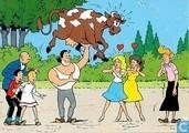 Jerom tilt een koe op