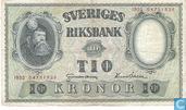 Suède 10 Kronor 1952