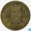 Belgien 20 Centime 1852