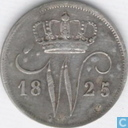 Netherlands 10 cent 1825 U