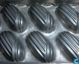 Templates and molds - Chocolate moulds - Bombon, motief: ovaal gestreept