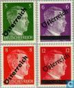 Overprint on stamps Reich