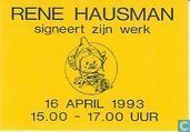 René Hausman signeert zijn werk