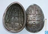 Templates and molds - Chocolate moulds - Ei , motief: kralengordijn