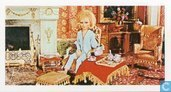 Lady Penelope Creighton-Ward relaxes in her drawing room and enjoys a cup of Parkers's fab tea.