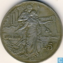 "Italy 5 lire 1911 ""50 years kingdom"""