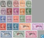 Overprint on French stamps of 1900-1927