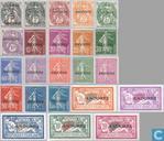 Surcharge sur des timbres français de 1900-1927