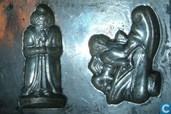 Templates and molds - Chocolate moulds - Sinterklaas en kerstplaatje