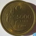 Turkije 5.000 lira 1998 (dik muntplaatje)
