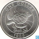 "Coins - Bermuda - Bermuda 1 dollar 1986 ""25th Anniversary of the World Wildlife Fund"""